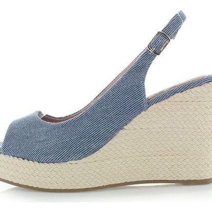 Modré platformové sandály Refresh 63298