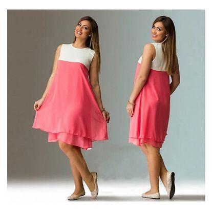 Lehoučké letní šaty v plus size velikostech - 3 barvy