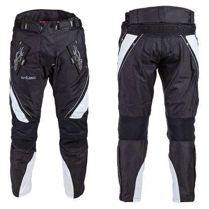 Dámské moto kalhoty W-TEC NF-2683 Barva černo-růžová, Velikost L