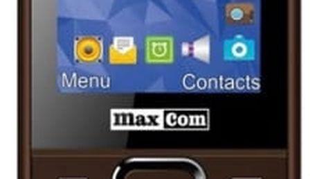 Mobilní telefon MaxCom MM141 Dual SIM (MM141BR) hnědý