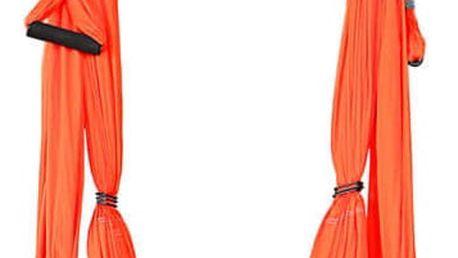 Popruhy na jógu inSPORTline Hemmok červená s držáky a lany