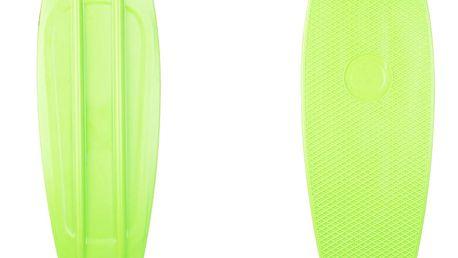 """Plastový longboard WORKER Pike 36"""" se svítícími kolečky Barva zelená"""