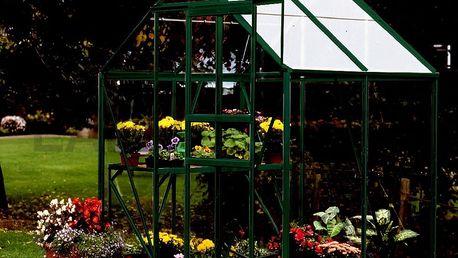 skleník VITAVIA VENUS 2500 čiré sklo 3 mm zelený