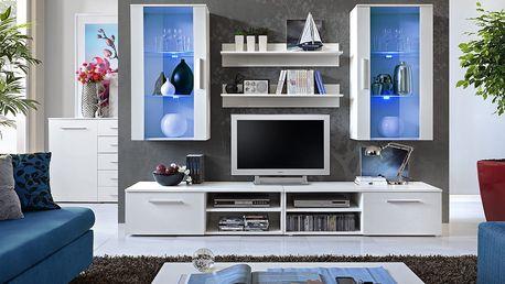 Obývací stěna GALINO G, bílá matná/bílá matná