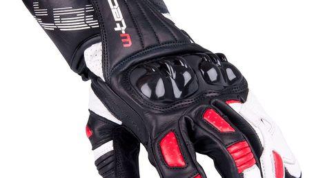Pánské moto rukavice W-TEC Decane Barva červená, Velikost XL
