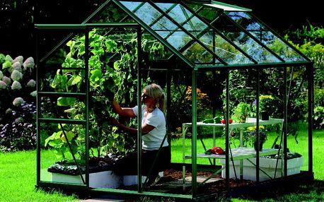 skleník VITAVIA VENUS 5000 čiré sklo 3 mm zelený
