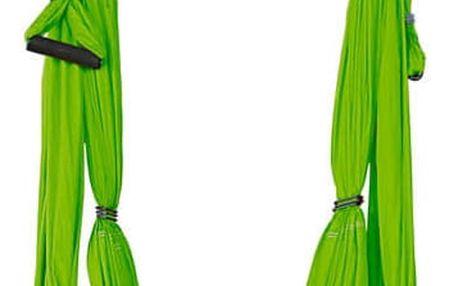 Popruhy na jógu inSPORTline Hemmok zelená s držáky a lany
