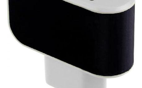 Trojitá USB nabíječka do zásuvky - černá - dodání do 2 dnů