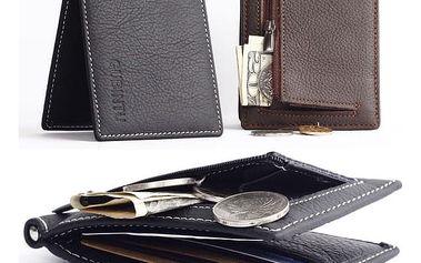 Pánská peněženka z umělé kůže - dvě barevná provedení