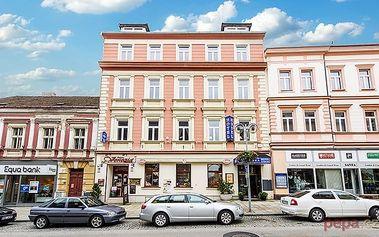 3–8denní pobyt pro 2 osoby se snídaněmi a slevami v hotelu Tábor v jižních Čechách