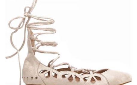 Dámské béžové baleríny Ramona 8210