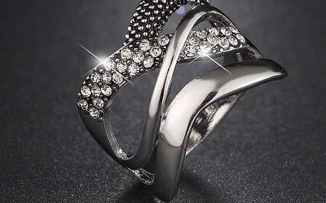 Dámský prstýnek - stříbrná, zlatá barva
