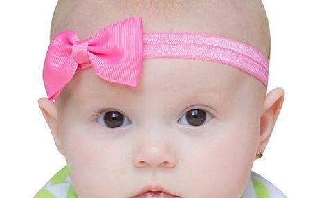 Roztomilá čelenka s mašlí pro miminka - 17 barevných variant