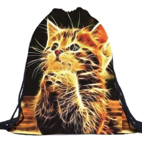 Vak na záda s ohnivým koťátkem