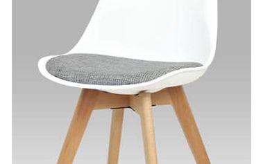 Jídelní židle bílá plastová Autronic