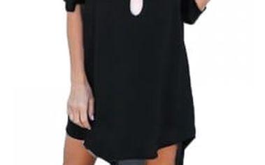 Dámské šifonové šaty s prodlouženými zády