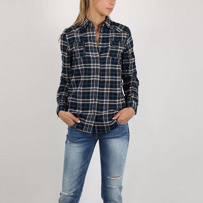 Košile Replay Y/D CHECK HERRINGBONE TWILL M Černá