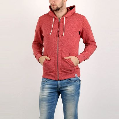 Mikina Replay POLY-COTTON FLEECE S Červená