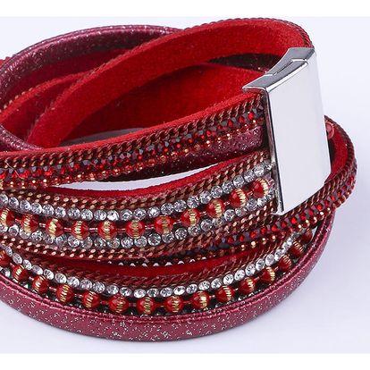 Fashion Icon Náramek krystalky tkanina dlouhý