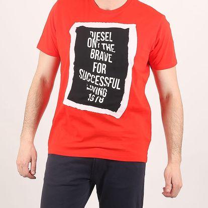Tričko Diesel T-PASC MAGLIETTA L Červená