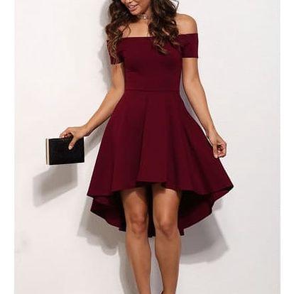 Elegantní jednobarevné šaty - mix barev