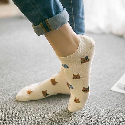 Roztomilé ponožky s kočičkami - 5 barev