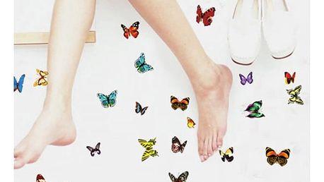 Barevní samolepící motýlci na zeď - 81 kusů