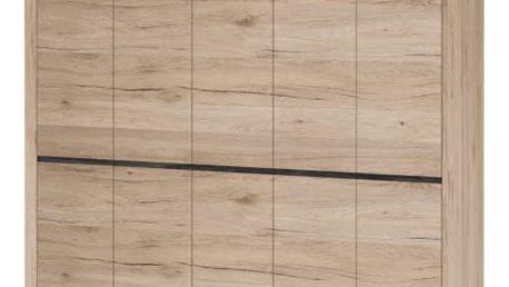 Minneota - Skříň 236/223,2/60,2 (dub san remo sand)