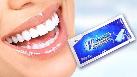 Balení 28 ks bělících pásků na zuby