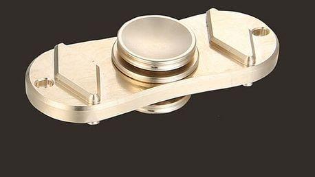 Antistresový fidget spinner - zlatá barva
