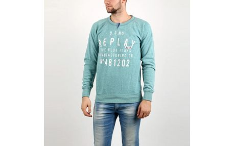 Mikina Replay POLY-COTTON FLEECE L Zelená