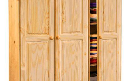 šatní skříň 8863 masivní borovice lak Idea