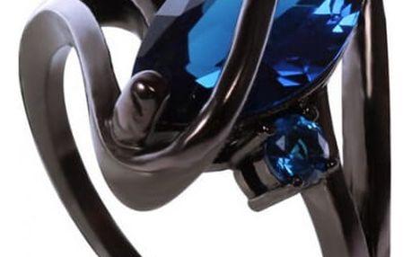 Černý prsten s kamenem