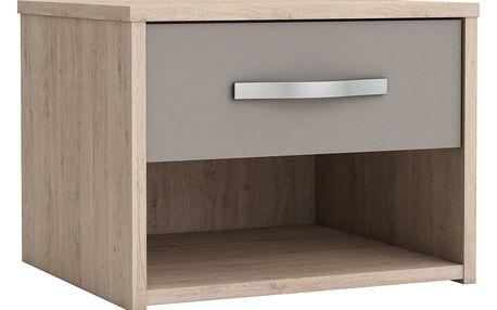 Noční stolek GRAPHIC dub/béžová Idea