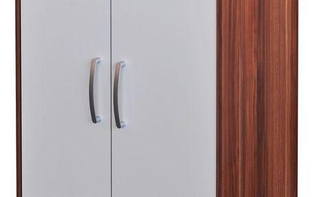 Prádelník s dvířky 61501 ořech/bílá