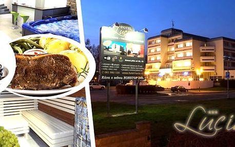 Jižní Čechy - wellness pobyt s luxusním degustačním menu šéfkuchaře pro 2 osoby na 2 nebo 3 dny v Hotelu Lucia***.Snídaně, degustační menu, neomezený vstup do vířivky a sauny a další.