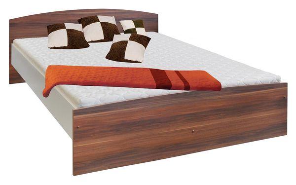 Manželská postel 60342 180x200 ořech / bílá Idea
