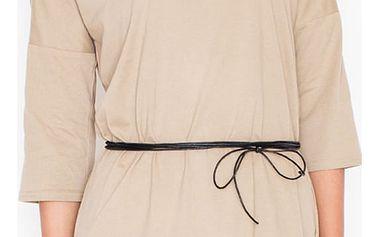Světle hnědé šaty K335