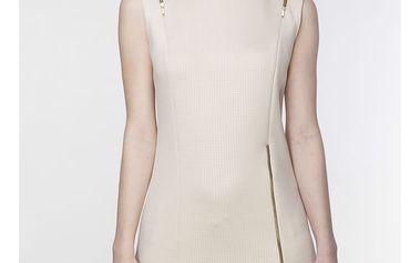 Béžové šaty ASU0012