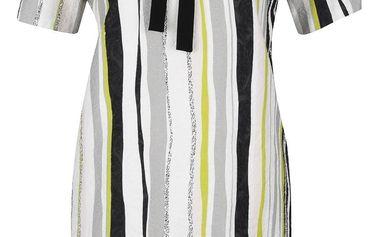 Šedo-krémové pruhované šaty Kvinna A-line