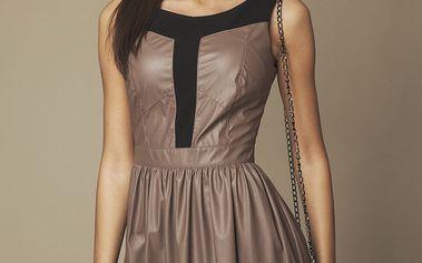 Hnědé šaty ASU0002