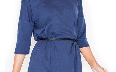 Tmavě modré šaty K335