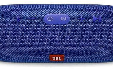 Přenosný reproduktor JBL Charge 3 modrý + K nákupu poukaz v hodnotě 1 000 Kč na další nákup + Doprava zdarma