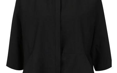 Černá volná košile s 3/4 rukávy Alchymi Alia