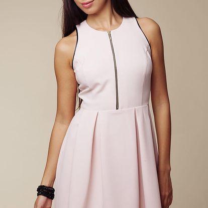 Světle růžové šaty ASU0003