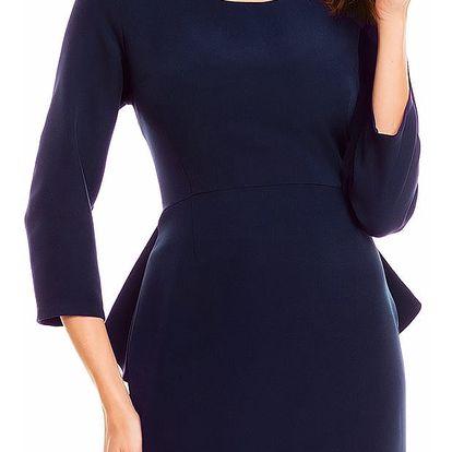 Tmavě modré šaty A132