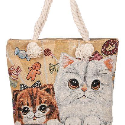 Fashion Icon Dámská taška Brown cats kočky roztomilé