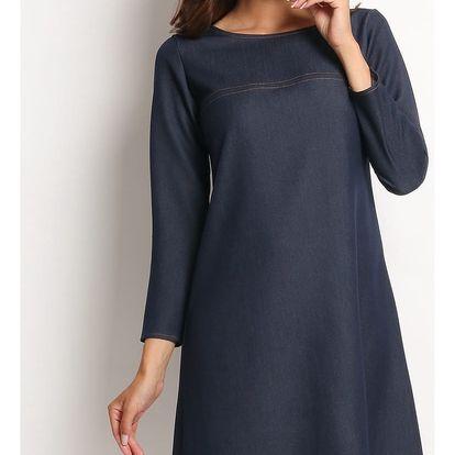 Tmavě modré šaty A114