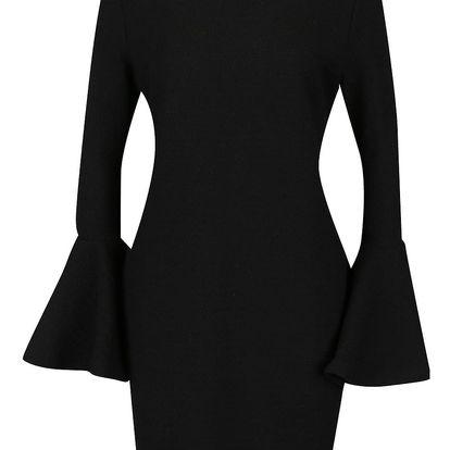 Černé šaty se zvonovými rukávy Kvinna Mini Swing