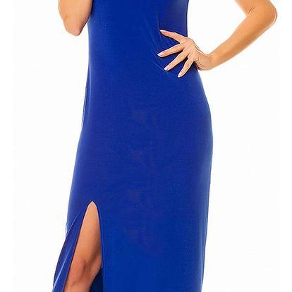 Modré šaty A136